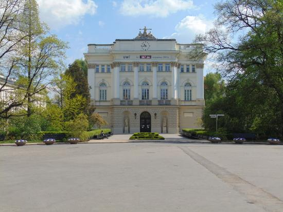 University of Warsaw (Uniwersytet Warszawski): Университет днем...