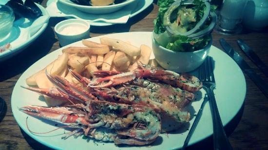 Whighams Wine Cellars: Langoustines at Whigham's! Delicious!