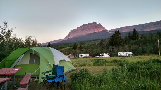 Glacier National Park Campgrounds: Our campsite