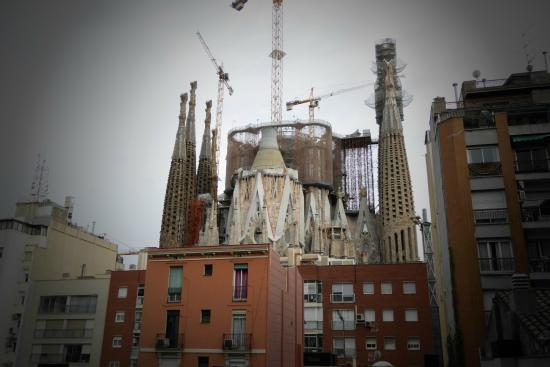 Sensation Sagrada Familia: from balcony