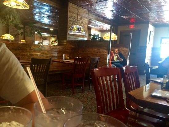 """Mother Bear's Pizza: View from the """"upper"""" range dining area"""