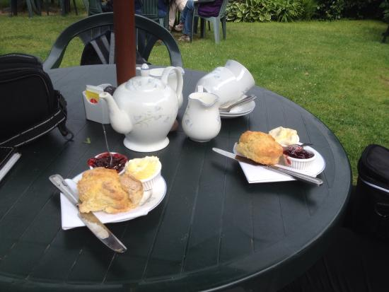 Bossington Tea Shop: Just to show you that the cream teas did actually exist
