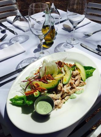Hamilton's Grill Room : Cobb Salad. Spit-roasted chicken, bacon, hard boiled egg, avocado. Green Goddess dressing.