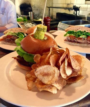 Hamilton's Grill Room : Hamilton's Burger. Gruyere, bacon, lettuce. Roasted shallot and creme fraiche.