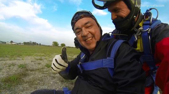 Skydiving Croatia: retorno a terra
