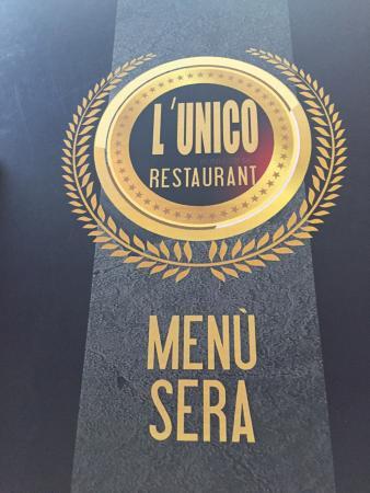 L'Unico Ponte Tresa Restaurant : Menù alla sera..