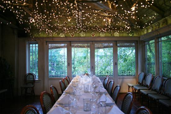 Hamilton's Grill Room: The Garden Room, facing the Delaware River Canal.