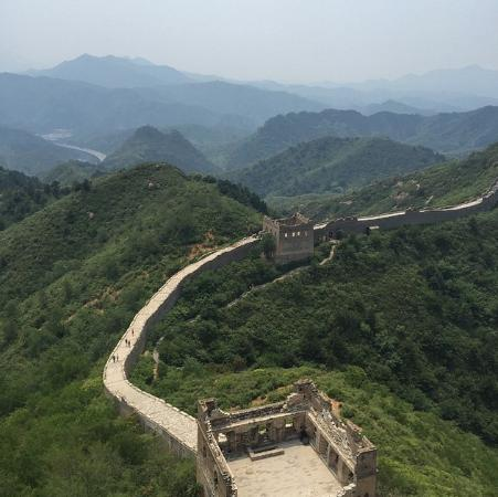 Stretch-A-Leg Travel-Day Tour: Looking back on the section we'd hiked. Jinshanling.