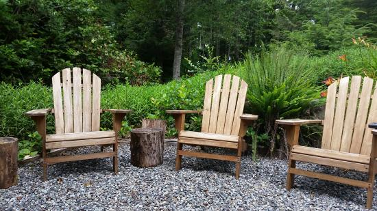 Harvey House B&B: Peaceful outdoor seating