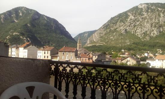 Hostellerie de la Poste: View from our balcony