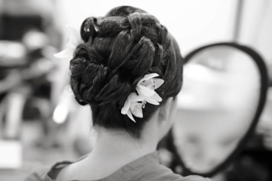 Tea Garden Salon & Spa: Bride Hair