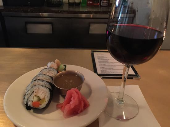 Bann: Happy Hour is a great price - $5 wine and $6 appetizers