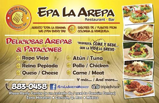 Deliciosa Comida Colombiana Y Venezolana Fotografia De Epa La Arepa Cancun Tripadvisor