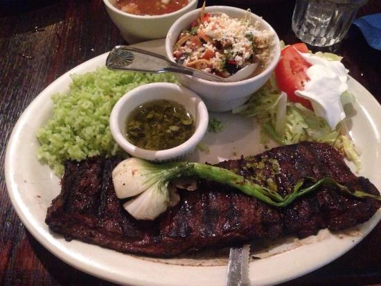 Blue Agave: Carne asada cooked medium. DONT MISS OUT.