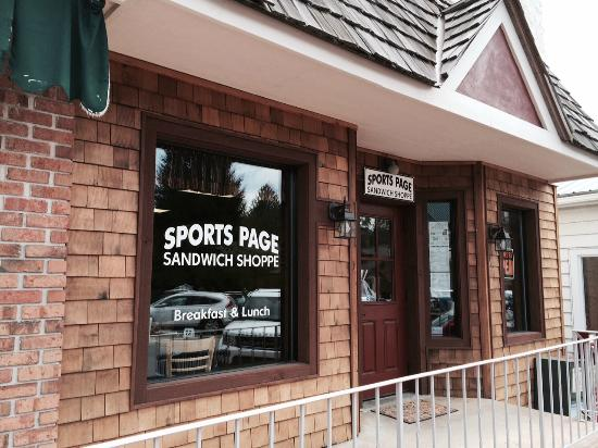 Sports Page Sandwich Shop : Look for this window... this is the place to eat