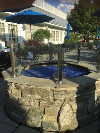 Fire Pit On The Patio Freeport Tavern 780 Morrissey Blvd Boston Ma