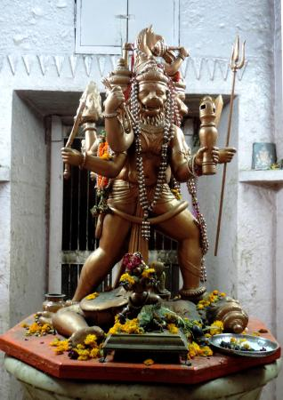 Bade Ganeshji Ka Mandir: Panchmukhi Hanuman with Narasimha face