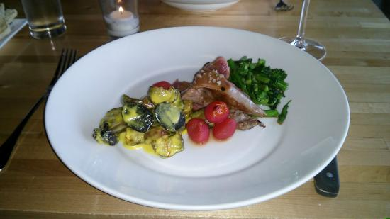 Marrow Kitchen and Bar: The Wild Boar, delicious and well presented.