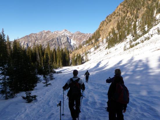 Red Pine Lake : hiking back down
