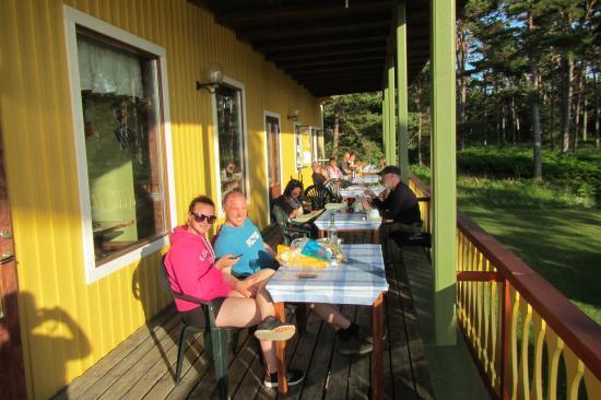 Nyhamn, Sweden: al fresco dining