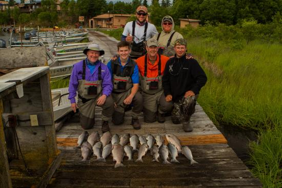 Katmai Lodge : Late day sockeye catch and great guides.