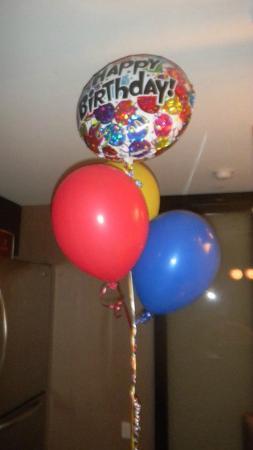 Vdara Hotel Spa At ARIA Las Vegas Happy Birthday Balloons Upon Arrival