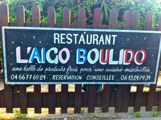Restaurant l'Aigo Boulido  Le Boucanet LE GRAU DU ROI