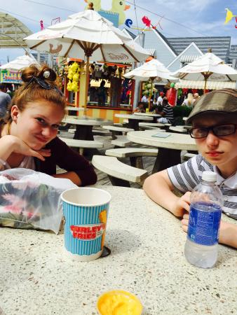 Curley's Fries: Me and my kids on our first day in wildwood ! First stop Curlys