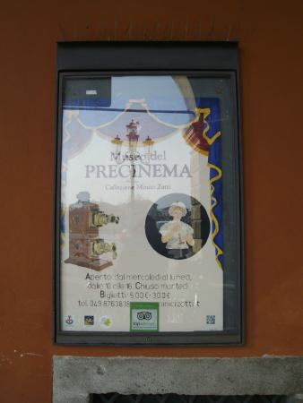 Museo del Precinema  - Manifesto entrata