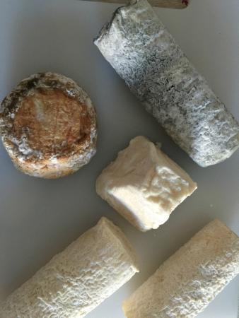 Largeasse, Frankrike: Extraordinarios quesos de cabra