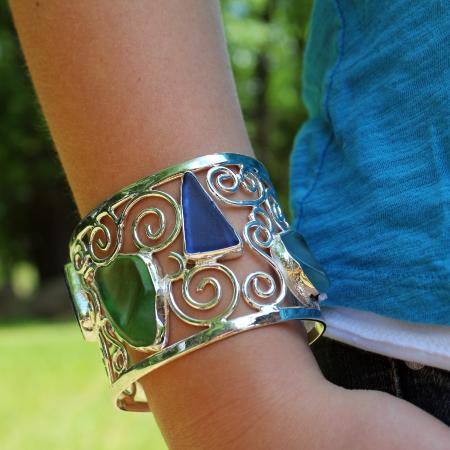 Sturbridge, MA: Sea Glass Cuff