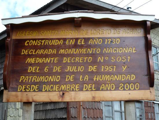 Iglesia Santa Maria de Loreto : Cartello esplicativo