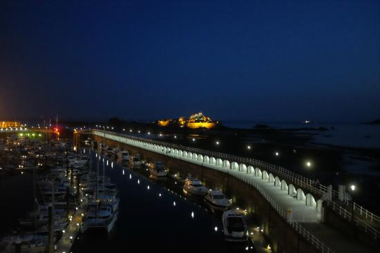 Elizabeth Castle view from room 325 - Picture of Radisson Blu Waterfront Hotel, Jersey, St ...