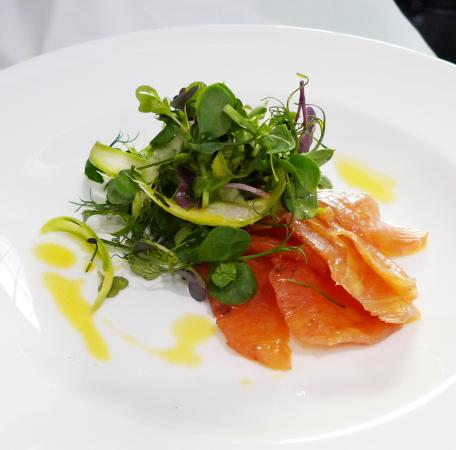 The Rex Whistler Restaurant, Tate Britain: Botanically cured Scottish Salmon