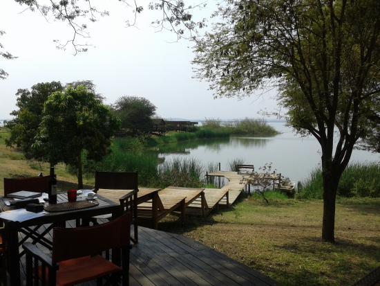 Mubanga Lodge: Vista para a Lagoa...