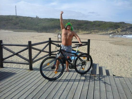 Praia das Macas : De bicicleta para a praia