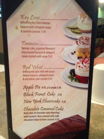ไฮเลเวล, แคนาดา: Lots of menu options