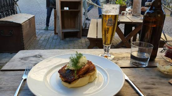 Bakfickan: Fried Baltic herring with spring onion butter & mashed potatoes