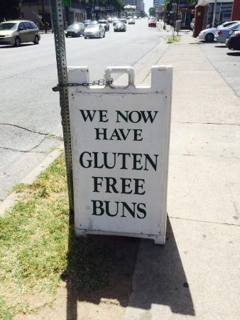 Hut's Hamburgers : Gluten free bun option