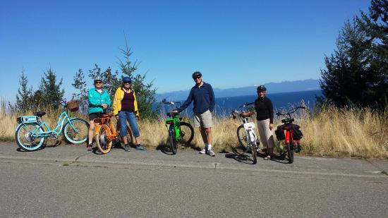 Pedego Electric Bikes: A tour group taking in the beautiful view
