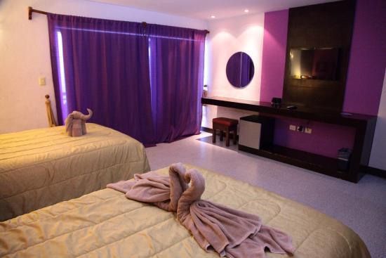 فيستا ديل مار بوتيك هوتل: Habitación con TV pantalla plana y frigorífico