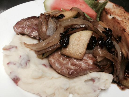 Sundown Grill & Bar-B-Q: Pork Tenderloin and Mash over Baby Red Mash Potatoes