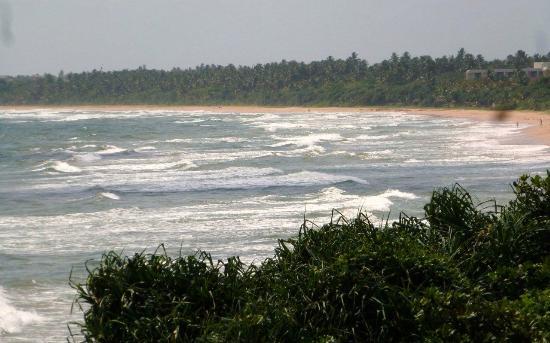 Bentota, Sri Lanka: Choppy seas