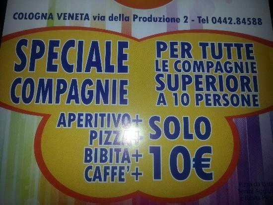 Cologna Veneta Italy  City new picture : ... Picture of Pizzerie Trattoria Meeting, Cologna Veneta TripAdvisor