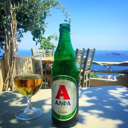 Skiathos Olive Thea Restaurant: Lunch beer