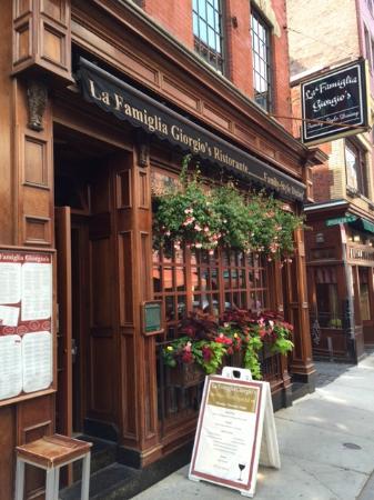 La Famiglia Giorgio's: Street view of ristorante