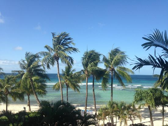 Coconut Court Beach Hotel: view from our balcony