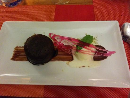 """Raiatea Lodge Hotel: Le coulant au chocolat """"qui claque"""""""