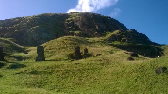 Rano Raraku: Parece bosque de moai