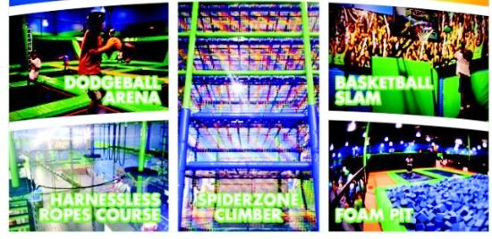 Outer Limitz Trampoline Arena: Attractions